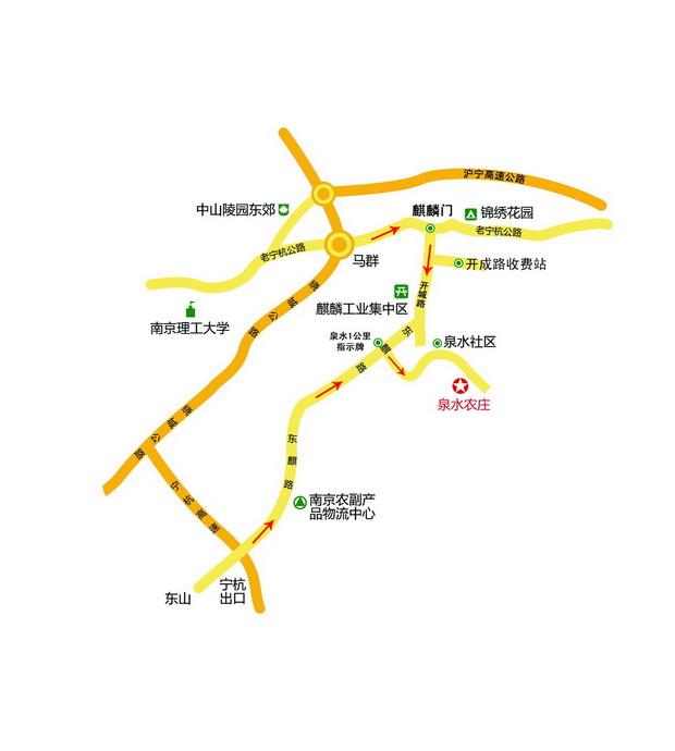今天 1 泉水农庄旅游交通地图 (点击地图看详细大图)
